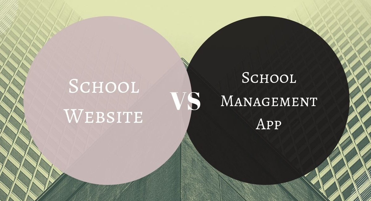 The differences between school website and school management app