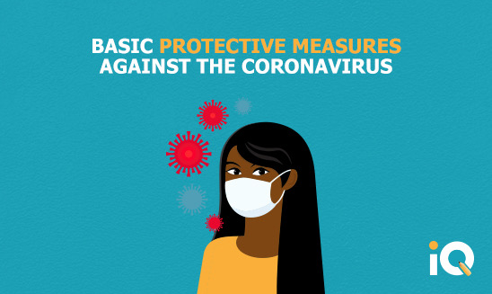 Basic protective measures against the corona virus